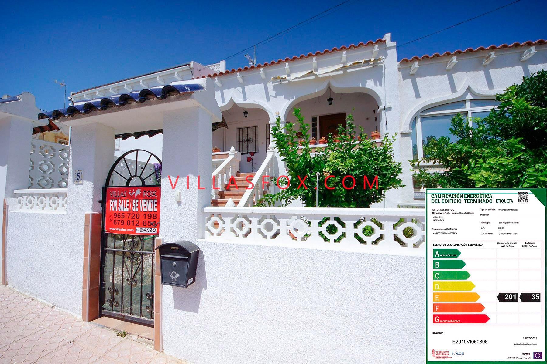 3-bedroom, 2-bathroom townhouse, Balcón de la Costa Blanca, San Miguel de Salinas