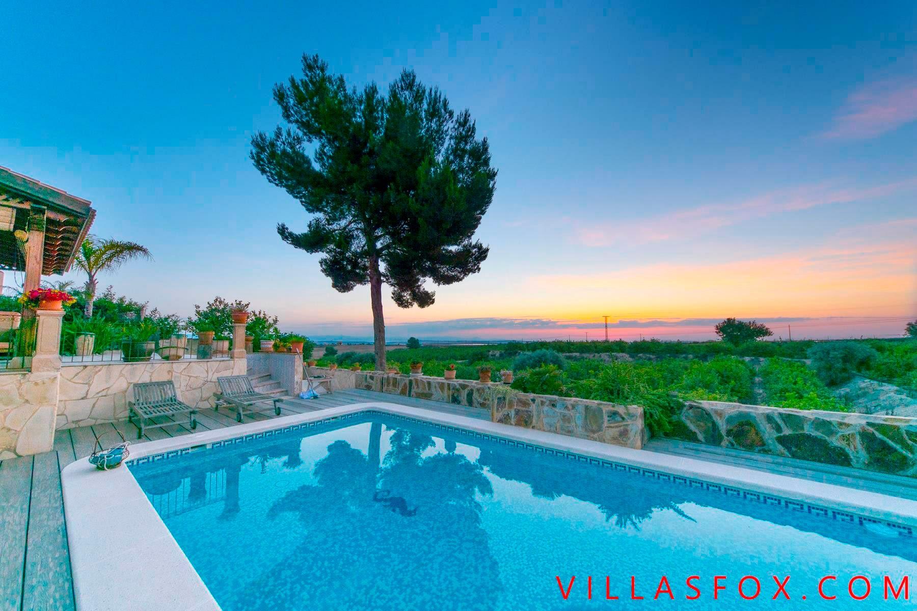 San Miguel de Salinas villa with guest cabin, and superb views